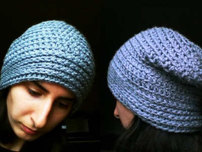 How to crochet slouchy hat