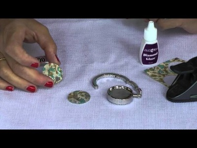 How to Make a Dome Glass Purse Hook DIY Tutorial