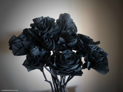 How to Make Black Roses | Halloween Tutorial 2015 DIY decorating on a budget