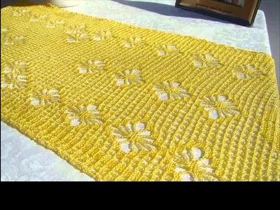 How to make crochet table runner