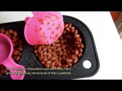 How To Make Tasty Rice Crispy Cups Filled With Flan - DIY Food Tutorial - Guidecentral & Cuplettes
