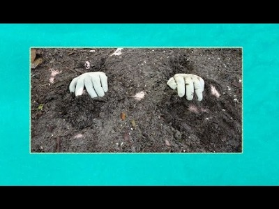 How to make Unique Creepy Look Concrete Hands Planter - DIY Projects