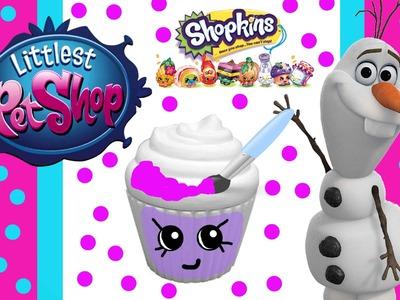 Shopkins Season 3 DIY Custom Paint A Bank Lps Blind Bag Toy Surprise Disney Frozen Blind Capsule