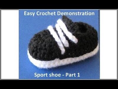 Sport shoes Part 1 Crochet for beginners