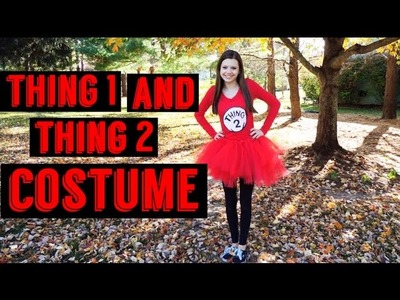 Thing 1 and Thing 2 DIY Halloween Cosutume Idea!