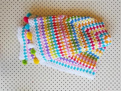 4. It's Oblong Story: Crochet A Granny Rectangle Blanket