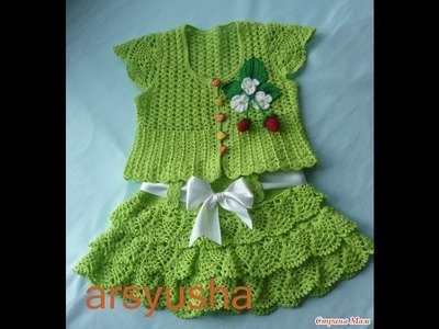 Crochet baby dress| How to crochet an easy shell stitch baby. girl's dress for beginners 235