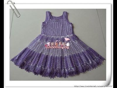Crochet baby dress| How to crochet an easy shell stitch baby. girl's dress for beginners 237
