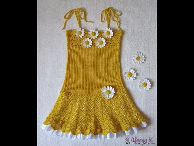 Crochet baby dress| How to crochet an easy shell stitch baby. girl's dress for beginners 108