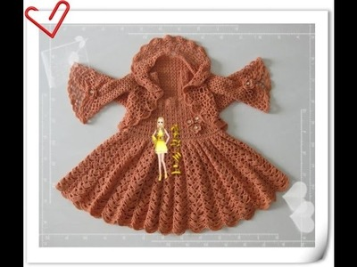 Crochet baby dress| How to crochet an easy shell stitch baby. girl's dress for beginners 236