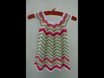 Crochet baby dress| How to crochet an easy shell stitch baby. girl's dress for beginners 158