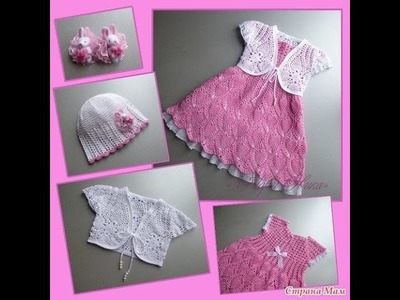 Crochet baby dress| How to crochet an easy shell stitch baby. girl's dress for beginners 105
