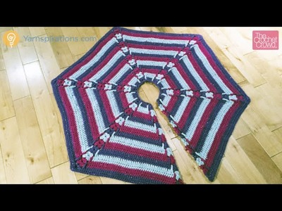 Crochet Christmas Tree Skirt Tutorial