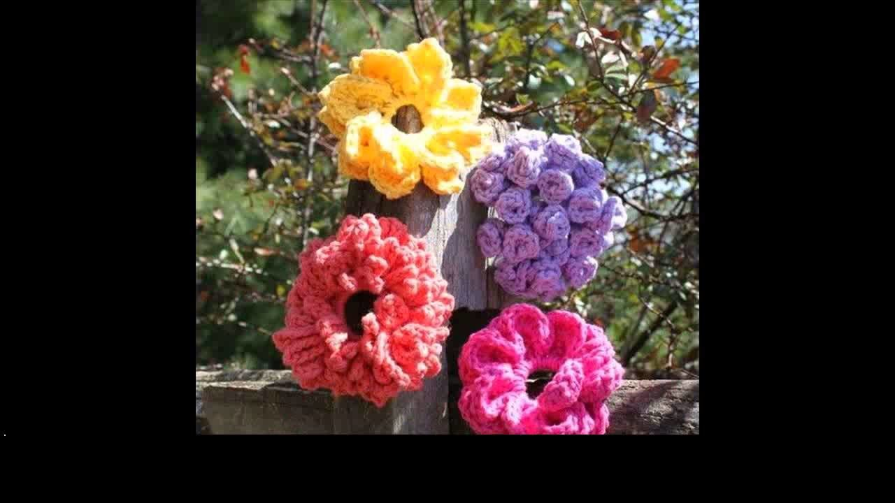 Crochet flowers for hats