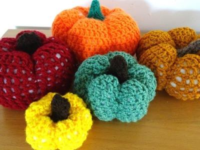Crochet Pumpkin - Left Handed Crochet Tutorial