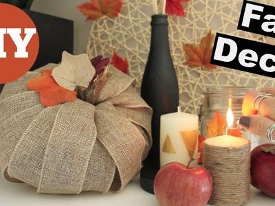 DIY Fall Decor - Candles and Ribbon Pumpkin
