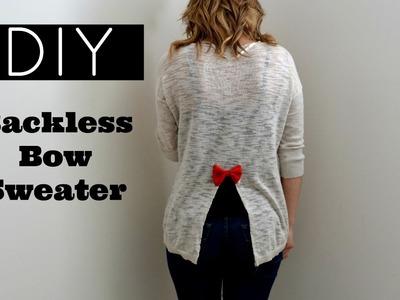DIY Fall & Winter Sweater Ideas | Open Back Bow Sweater