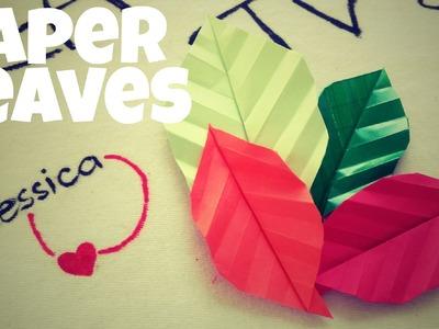 DIY - Paper Leaf Tutorial