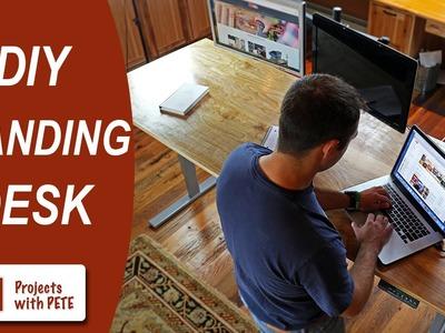DIY Standing Desk | DIY Pete & Stand Modern