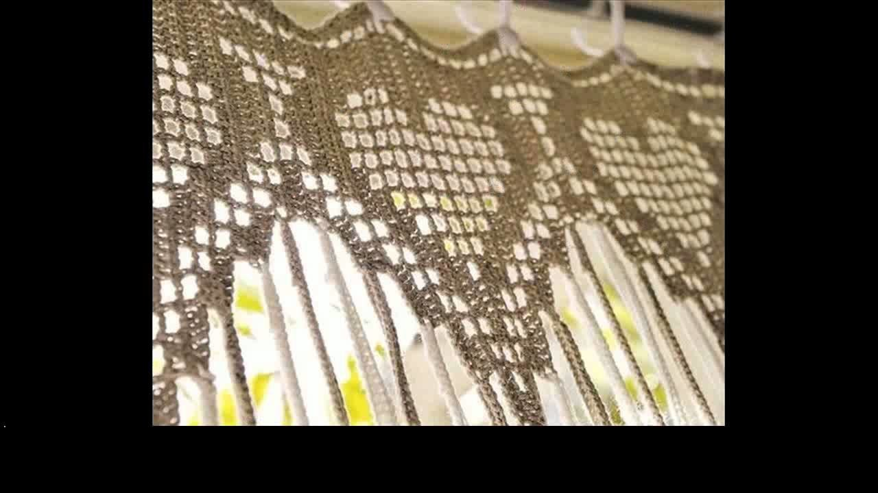 Easy crochet curtains ideas
