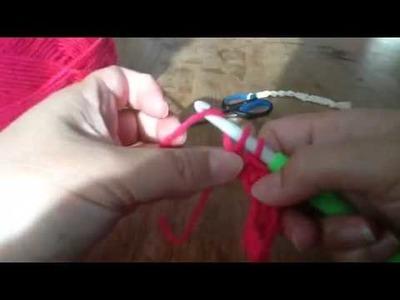 Haken: Losse & vaste. Häkeln. Crochet: Chains & single