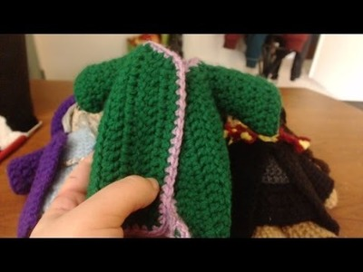 How to Crochet Doll-sized Wizard Robes