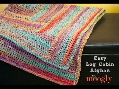 How to Crochet: Easy Log Cabin Afghan