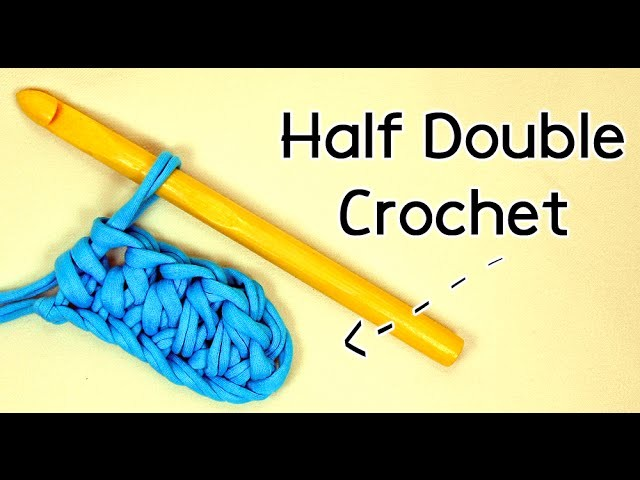 HOW TO CROCHET THE HALF DOUBLE CROCHET STITCH | Patrones Valhalla ENG
