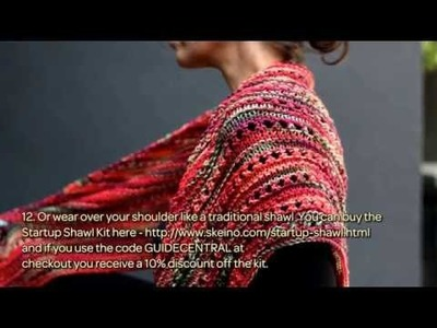 How To Knit A Shawl For Fall With Skeino - DIY Crafts Tutorial - Guidecentral & Skeino