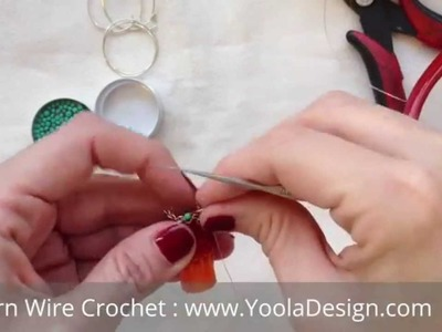 How to Wire Crochet with beads