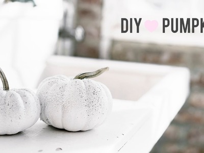Last Minute No Carve Pumpkin Halloween DIY