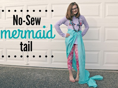 No-Sew Mermaid Tail and Costume | DIY | Jenny On The Spot