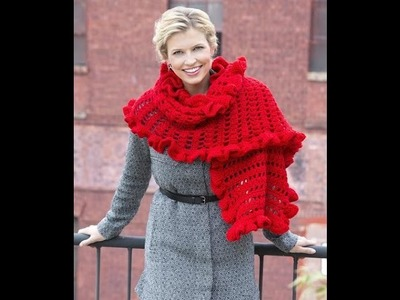 Ruffle wrap.shawl crochet in Tamil.English
