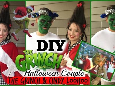 DIY Couple Halloween Costume: The Grinch and Cindy LooWhoo