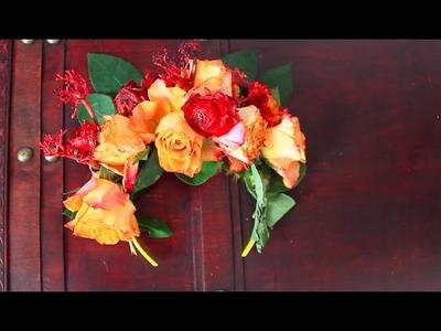 DIY FLOWER CROWN ♡ DIY BLUMEN HAARBAND ♡ HALLOWEEN KARNEVAL FASCHING