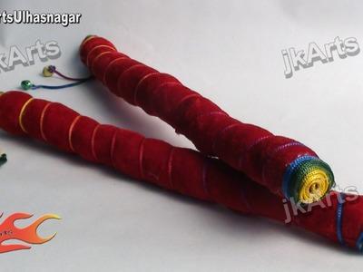 DIY Stuffed Dandiya Sticks for Kids  - JK Arts 397