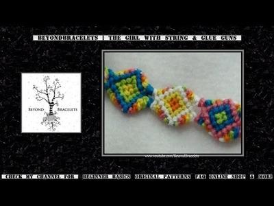 ► Friendship Bracelet Tutorial - Intermediate - Shaped Bracelet