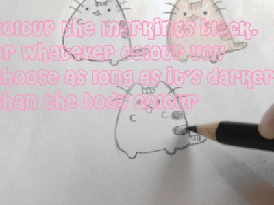 How to draw Pusheen cat