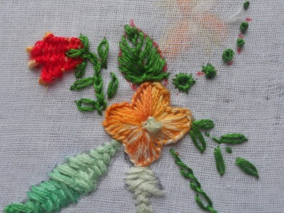 HOW TO EMBROID A FLOWER USING BUTTONHOLE STITCH - TUTORIAL