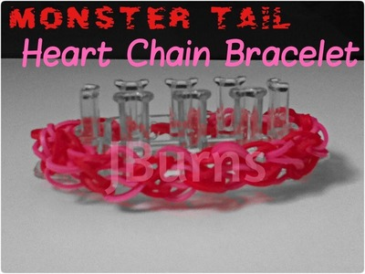 How to Loom: Heart Chain bracelet (Monster Tail Tutorial)