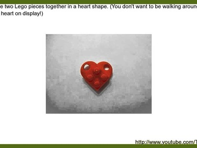 How to Make a Cute and Easy Lego Heart Necklace