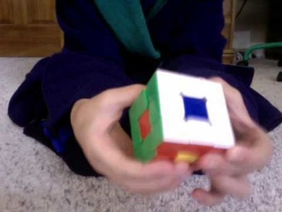 How to make a flower pattern on a 3x3 rubiks cube