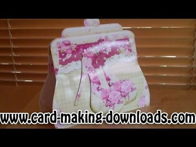 How To Make A Handbag Shaped Card www.card-making-downloads.com