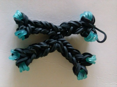 How to make a K charm with just rainbowloom hook