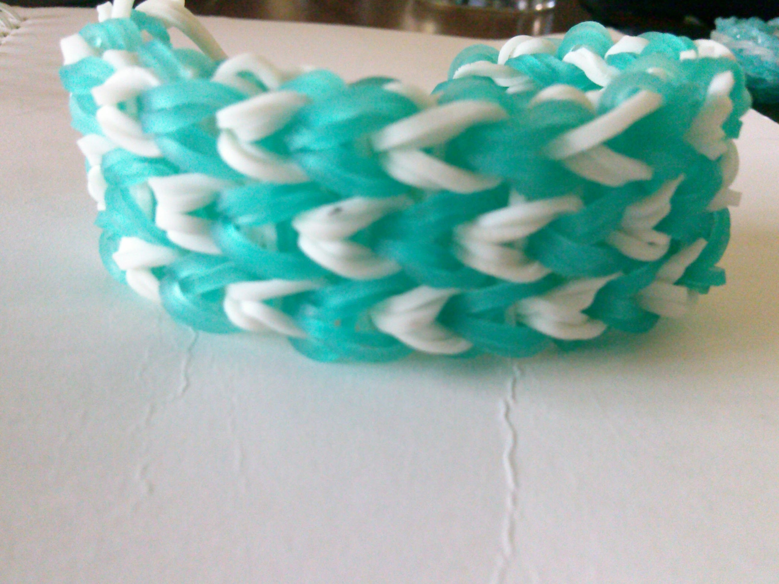 How to make a thick rainbow loom bracelet