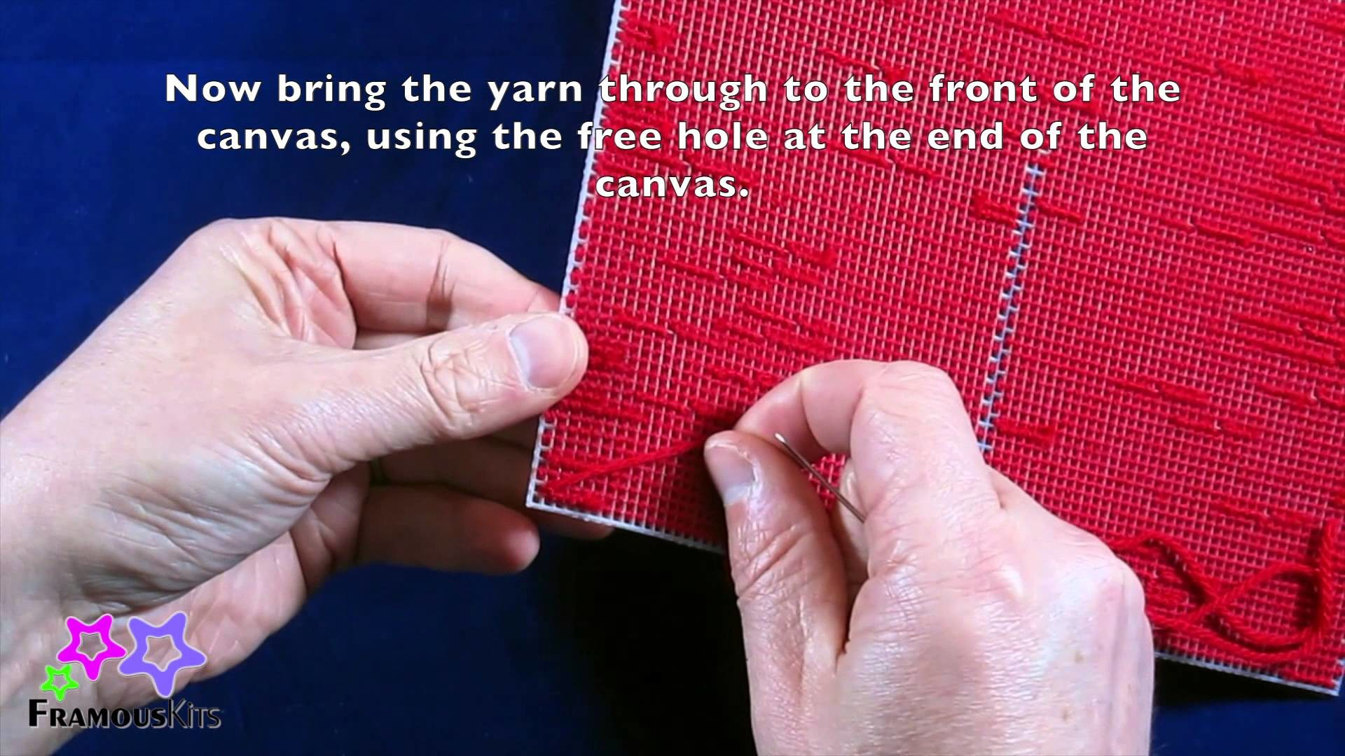 How to sew plastic canvas edging - FRAMOUS KITS VIDEO NO.16