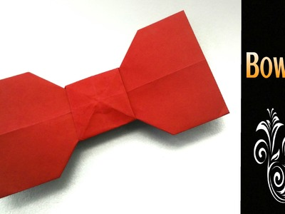 "Origami Paper "" Bow Tie"" - Simple and Easy"