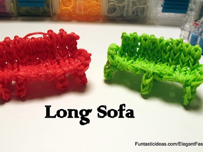 Rainbow Loom Long Sofa Charm( Only 1 Loom) - How to - Home Series