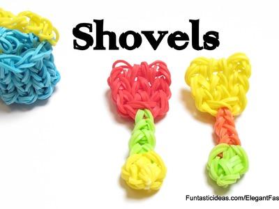 Rainbow Loom Shovel.Beach Toys charm - How to - Summer Series