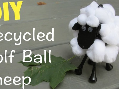 Sheep Golf Ball DIY Recycling Craft Series Craft Klatch